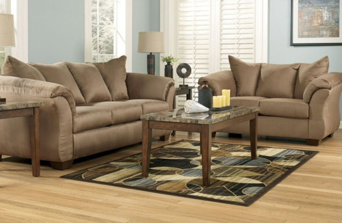 2PC ASHLEY DARCY SOFA and Loveseat (MOCHA)-750MO