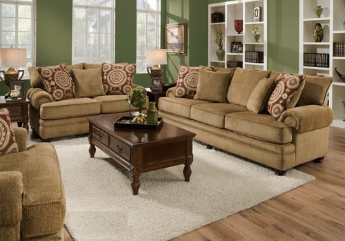 2 PCS ALBANY LIVING ROOM SET SOFA AND LOVE SEAT-8645