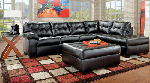 SIMMONS SECTIONAL SOFA (ONYX) - 9569ON