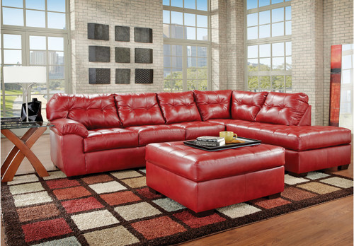 2PC SIMMONS SECTIONAL IN CARDINAL