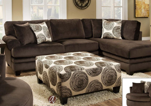 ALBANY SECTIONAL SOFA (CHOCOLATE)-8642CH