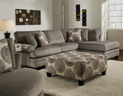 ALBANY SECTIONAL SOFA (SMOKED-GREY)