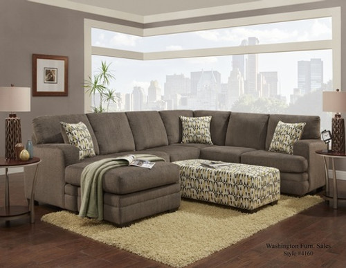 WASHINGTON HILLEL SECTIONAL SOFA (PEWTER) - 4160PE