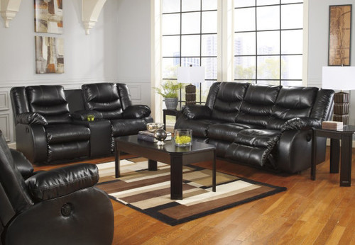 ASHLEY MOTION LOVE CONSOLE SOFA (BLACK) - 952BLK