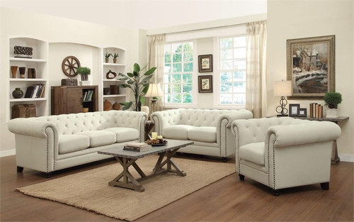 RESTORATION 2PC SOFA AND LOVESEAT SET (OATMEAL LINEN BLEND)-RESTORATIONOA)
