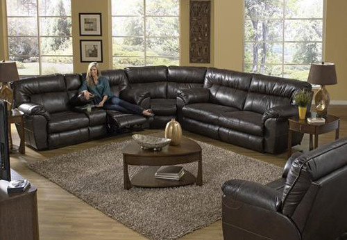 CATNAPPER NOLAN SECTIONAL SOFA (GODIVA) - 404