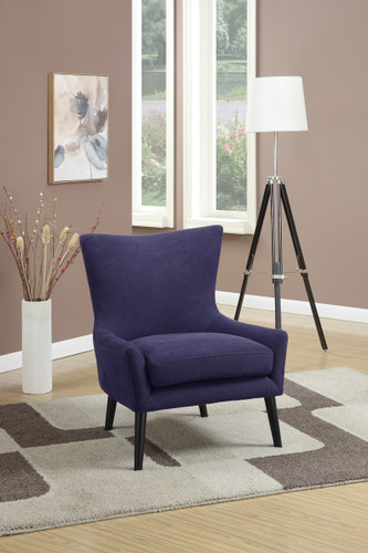 ACCENT CHAIR IN NAVY DEMIN COLOR