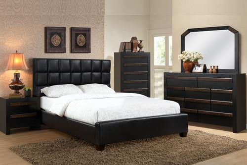 QUEEN OR FULL SIZE BED FRAME PLATFORM IN BLACK