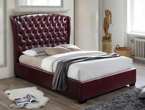 KAITLYN BOTTON TUFTED BED WINE - 5276WN-DB