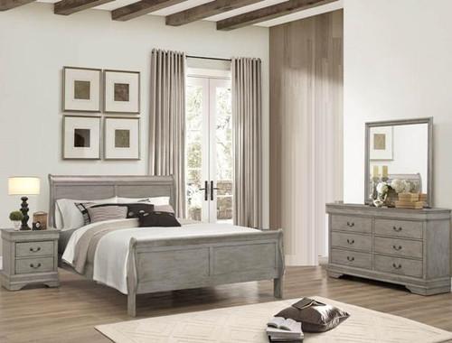 6PCS LOUIS PHILLIP BEDROOM SET IN GREY
