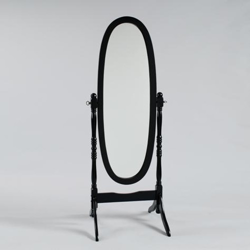 BLACK FINISH CHEVAL MIRROR