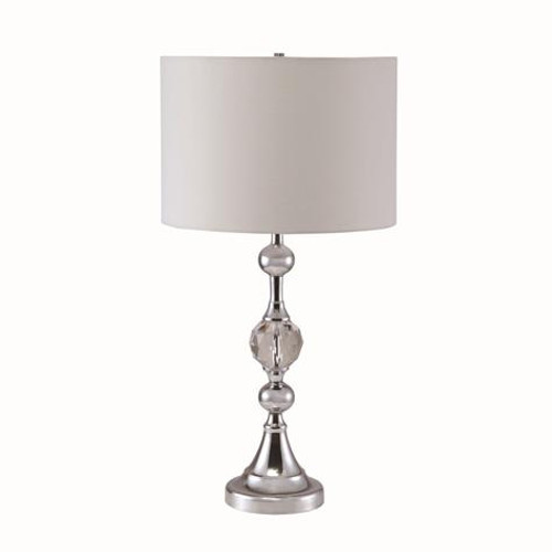CHROME W/ FACETED CRYSTAL TABLE LAMP - 6243T