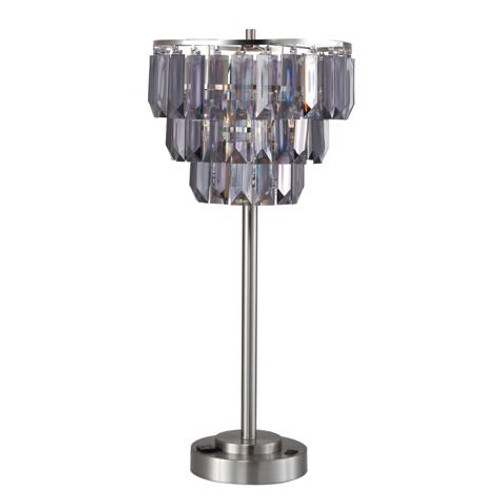 SMOKE CRYSTAL TABLE LAMP
