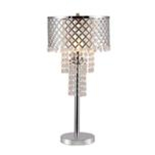 CRYSTAL ON MESH TABLE LAMP (SET OF 2)