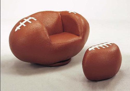 FOOTBALL CHAIR & OTTOMAN-7003