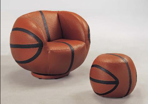 BASKETBALL CHAIR & OTTOMAN-7002