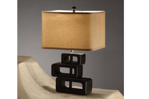 KHAKI POLYRESIN TABLE LAMP SET OF 2