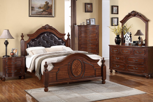 MASTER BEDROOM BEDFRAME IN NATURAL CHERRY WOOD FINISH