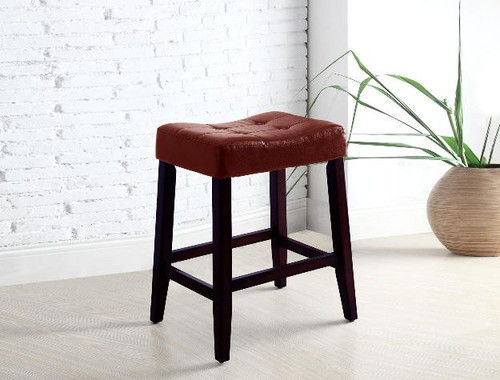 KENT SADDLE CHAIR 24 RED (SET OF 2)