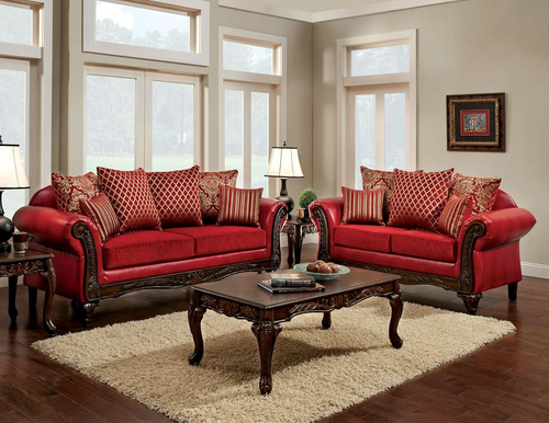 2PC Cleopatra Sofa and Loveseat Set - 6302CLEO