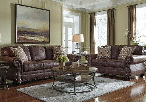 2PC Ashley Sofa and Loveseat Set - 800