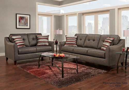 2PC WASHINGTON SOFA AND LOVESEAT IN ASH-4840ASH