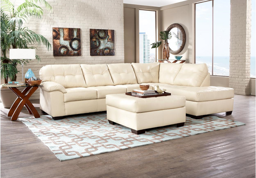 2PC SIMMONS SECTIONAL SOFA  (Pearl)
