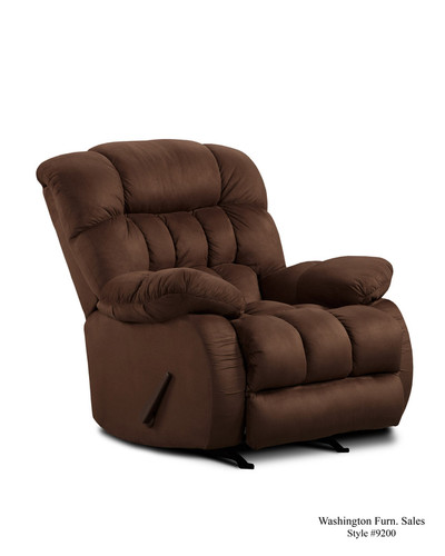 Fudge Plush Rocker Recliner - 9200-FUDGE