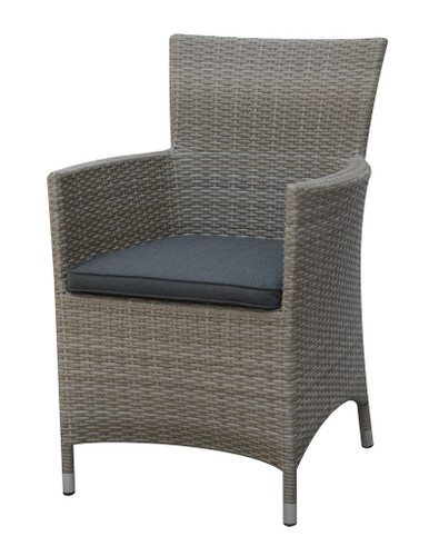 OUTDOOR ARM CHAIRS GREY FINISH
