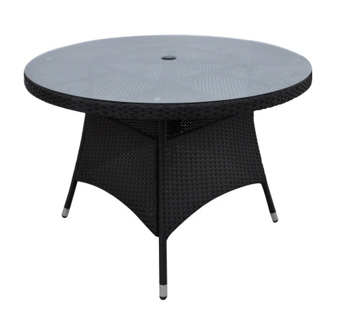 DARK BROWN OUTDOOR ROUND TABLE