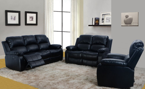 Luis 3 PC Sofa Loveseat With Recliner & Drop Table Set - GS2900B