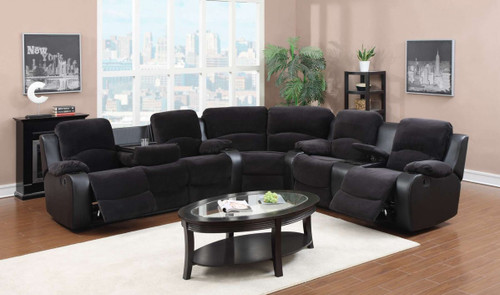 3PC EMILY RECLINING SET WITH DROP TABLE SET
