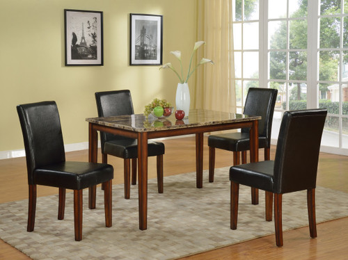 GABRIELE COUNTER HEIGHT TABLE TOP 5 PC Set - D006-T(D8102-C)-5PC