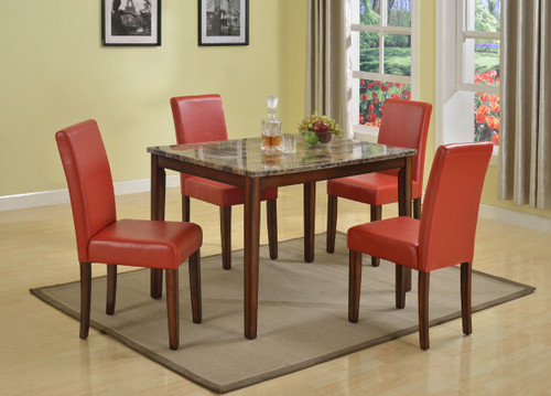 RICCARDO COUNTER HEIGHT TABLE TOP 5 PC Set - D006-T(D8105-C)-5PC