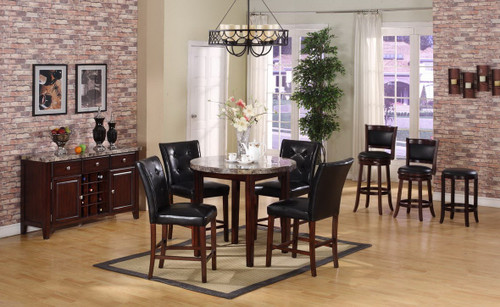 DIEGO COUNTER HEIGHT TABLE BAR STOOL 5 PC Set - L1007E-T