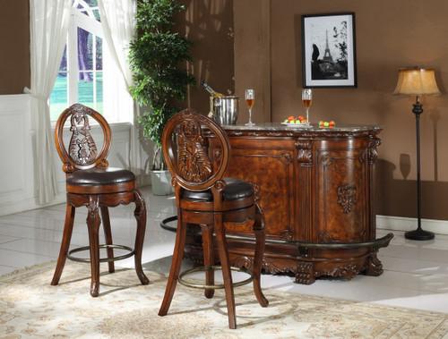 Joseph Bar Table & Bar Stool 3 PC Set - L9007-BT
