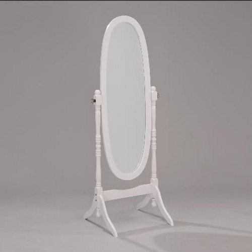 WHITE FINISH CHEVAL MIRROR - 2069