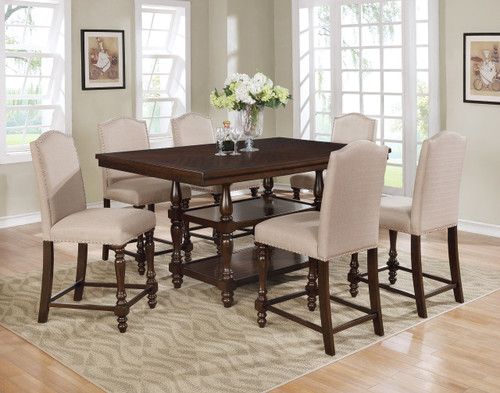 LANGLEY COUNTER HEIGHT TABLE TOP 5 PC Set - 2766-TAU