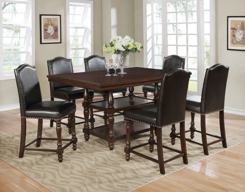LANGLEY COUNTER HEIGHT TABLE TOP 5 PC Set (ESPRESSO) - 2766-ESP