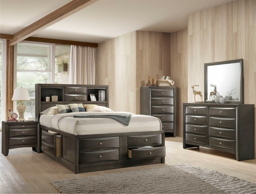 EMILY BEDROOM SET GREY -B4275