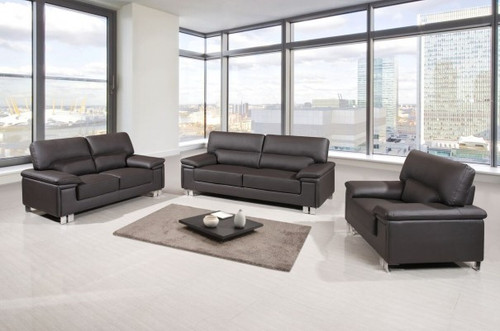 CONTEMPORARY SOFA SET U9399 DARK BROWN