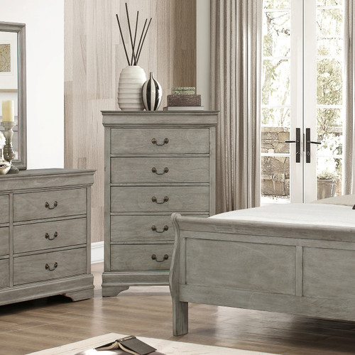 LOUIS PHILIP 5-D CHEST GREY-B3500/4