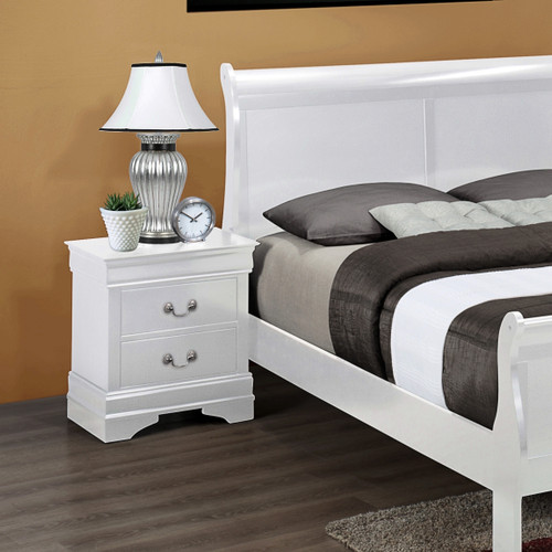 LOUIS PHILIP NIGHT STAND WHITE-B3600/2
