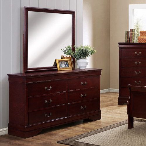 LOUIS PHILIP 6-D DRESSER CHERRY-B3800/1