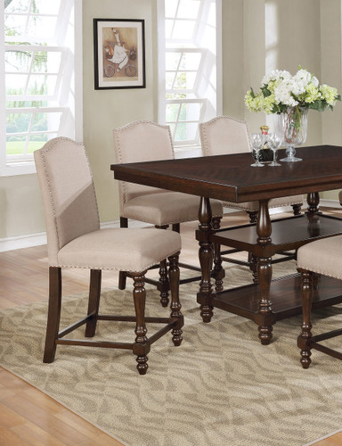 LANGLEY COUNTER HEIGHT CHAIR 2 PCS SET-2766S/24/TAU
