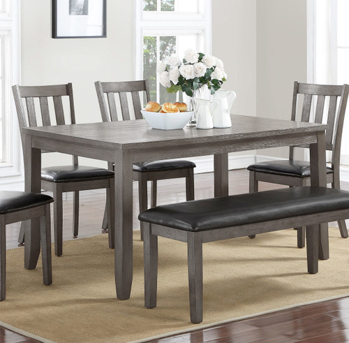 COSGROVE DINING TABLE GREY-2361T/3660/GY