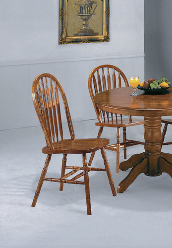DARK OAK ARROW WINDSOR CHAIR 2 PCS SET-1059D/OAK/ASSE