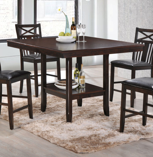 MEGHAN COUNTER HEIGHT TABLE W/SHELF-2710T/4848
