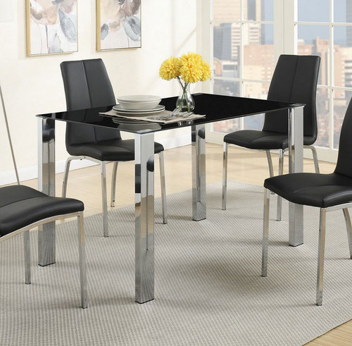 BLACK MODERN DINING TABLE-F2314