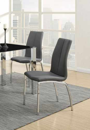 GREY MODERN DINING CHAIR 2 PCS SET-F1579